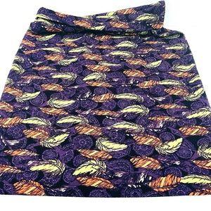 Lula Roe Skirt Size XS Purple Orange Stretch